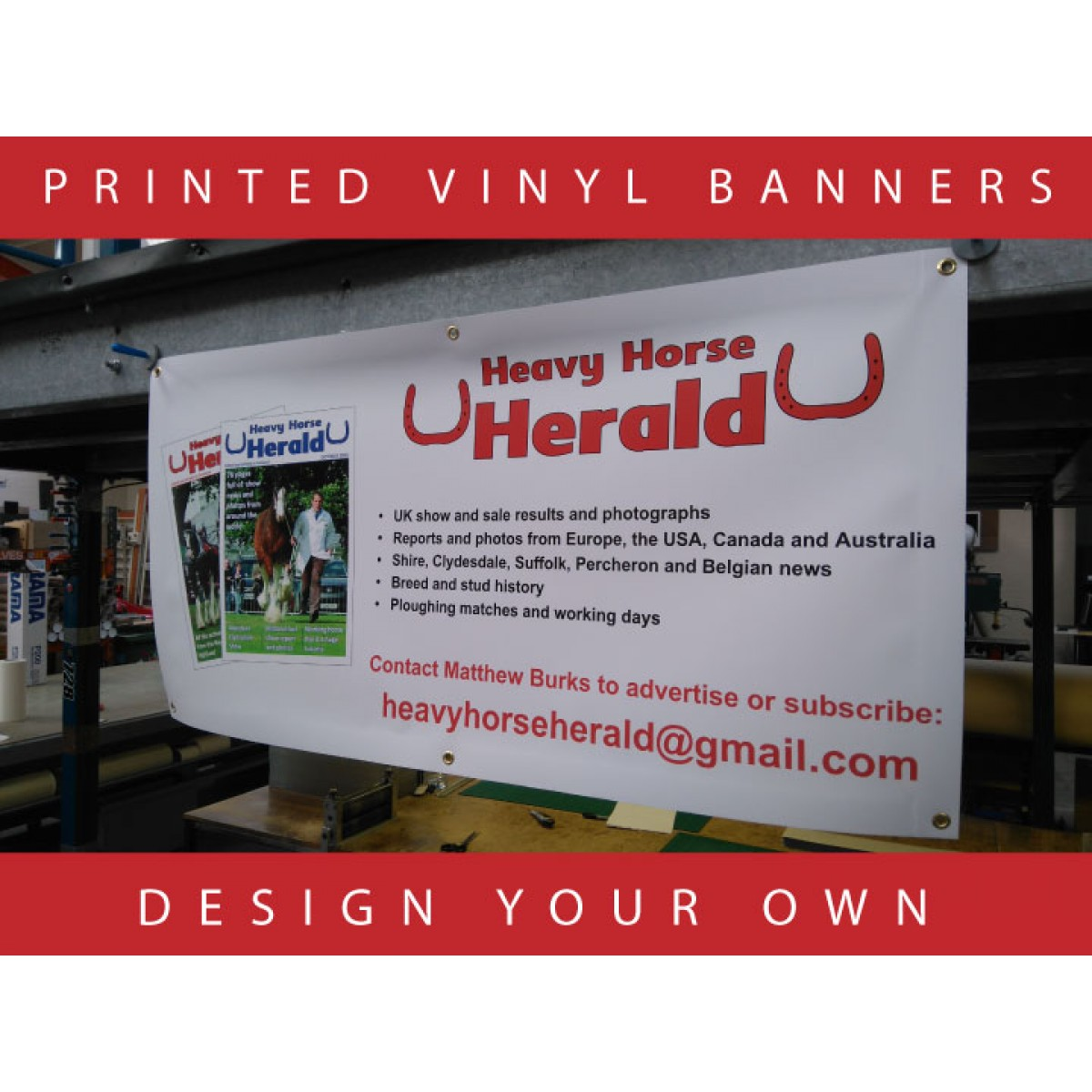 Printed Vinyl Banners Design Your Own The Sign Designer - Vinyl banners australia