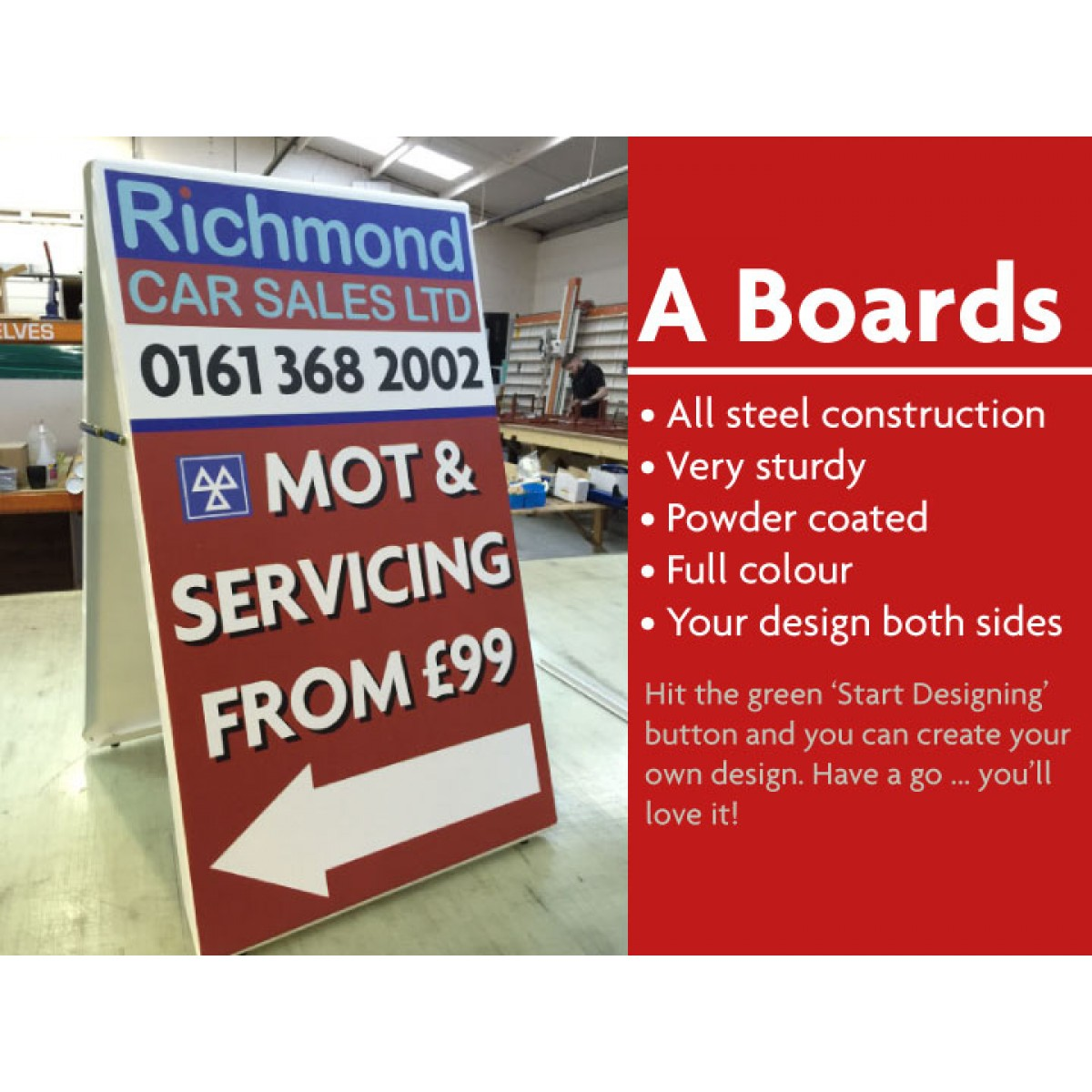 Pavement Signs And A Boards Design Your Own The Sign
