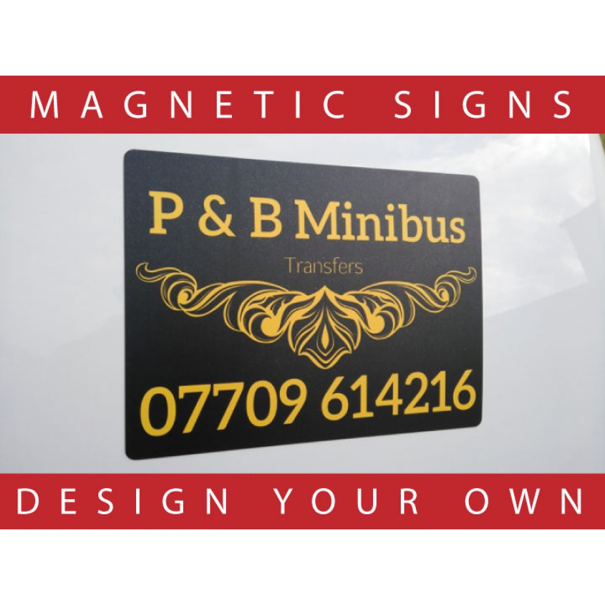 Magnetic signs for cars and vans design your own the for Design your own house sign